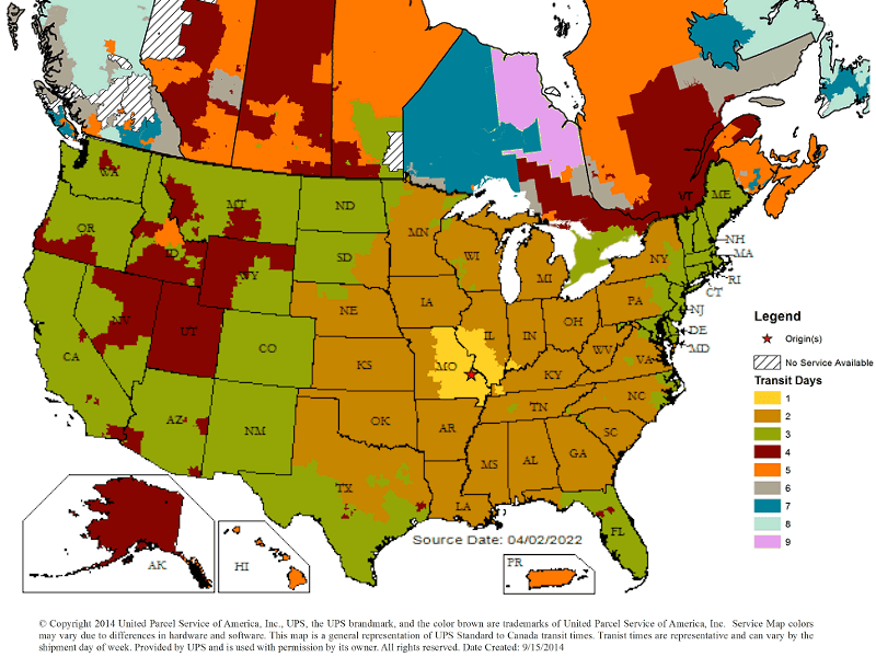Frequently Asked Questions Cleartec Canada - Ups Service Map Of The Us