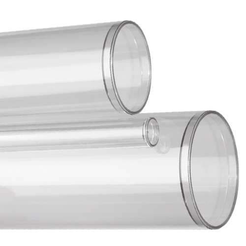 Sealed Bottom Clear Plastic Round Tubes Cleartec Canada